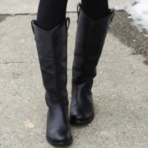 Frye Black Melissa Knee High Boots